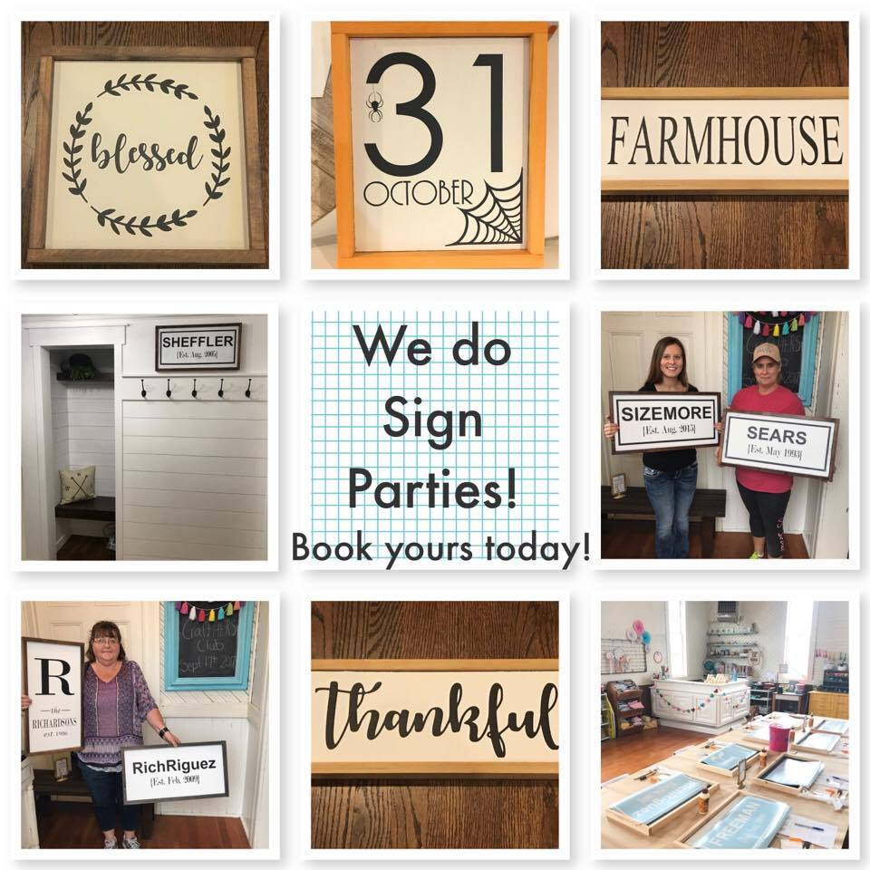 Sign Parties & Workshops